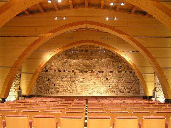 Arcs de fusta en auditori